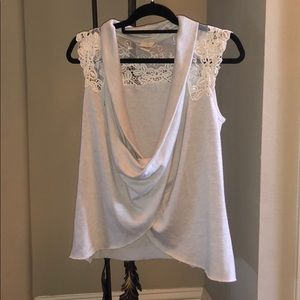 Beige Tank Top with lace details by Daytrip